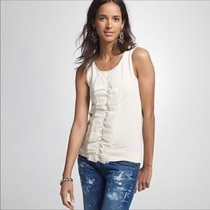 J.Crew Grand Ruffle Moroccan Spice small tank top